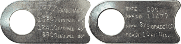 Standard & Adjustable Grade 100 Chain Sling Information Page