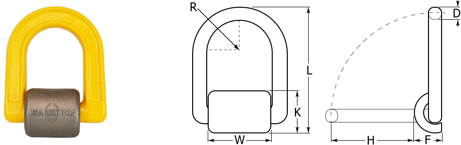 Grade 80 Weld On Lifting Point Dimensions